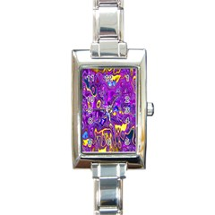 Melted Fractal 1a Rectangle Italian Charm Watch