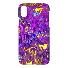 Melted Fractal 1a Apple Iphone X Hardshell Case