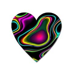 Vibrant Fantasy 5 Heart Magnet