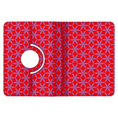 Flower Of Life Pattern Red Purle Kindle Fire Hdx Flip 360 Case