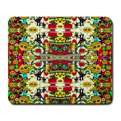 Chicken Monkeys Smile In The Floral Nature Looking Hot Large Mousepads
