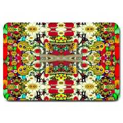 Chicken Monkeys Smile In The Floral Nature Looking Hot Large Doormat