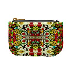 Chicken Monkeys Smile In The Floral Nature Looking Hot Mini Coin Purses