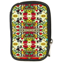 Chicken Monkeys Smile In The Floral Nature Looking Hot Compact Camera Cases