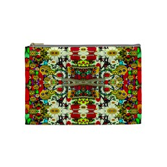 Chicken Monkeys Smile In The Floral Nature Looking Hot Cosmetic Bag (medium)