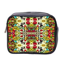 Chicken Monkeys Smile In The Floral Nature Looking Hot Mini Toiletries Bag 2 Side