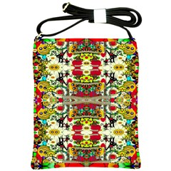 Chicken Monkeys Smile In The Floral Nature Looking Hot Shoulder Sling Bags
