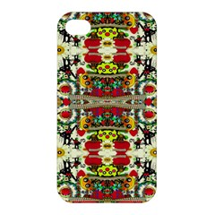 Chicken Monkeys Smile In The Floral Nature Looking Hot Apple Iphone 4/4s Premium Hardshell Case
