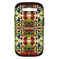 Chicken Monkeys Smile In The Floral Nature Looking Hot Samsung Galaxy S Iii Hardshell Case (pc+silicone)
