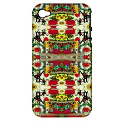 Chicken Monkeys Smile In The Floral Nature Looking Hot Apple Iphone 4/4s Hardshell Case (pc+silicone)