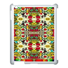 Chicken Monkeys Smile In The Floral Nature Looking Hot Apple Ipad 3/4 Case (white)