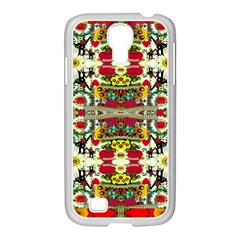 Chicken Monkeys Smile In The Floral Nature Looking Hot Samsung Galaxy S4 I9500/ I9505 Case (white)