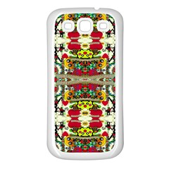 Chicken Monkeys Smile In The Floral Nature Looking Hot Samsung Galaxy S3 Back Case (white)