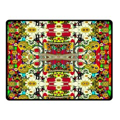 Chicken Monkeys Smile In The Floral Nature Looking Hot Double Sided Fleece Blanket (small)