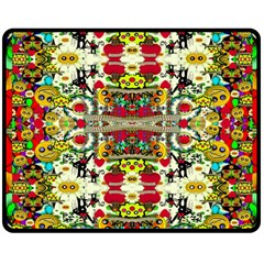 Chicken Monkeys Smile In The Floral Nature Looking Hot Double Sided Fleece Blanket (medium)