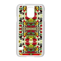 Chicken Monkeys Smile In The Floral Nature Looking Hot Samsung Galaxy S5 Case (white)