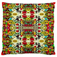 Chicken Monkeys Smile In The Floral Nature Looking Hot Large Flano Cushion Case (one Side)