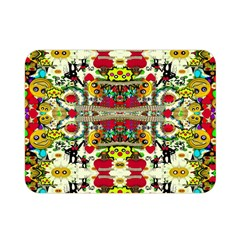 Chicken Monkeys Smile In The Floral Nature Looking Hot Double Sided Flano Blanket (mini)