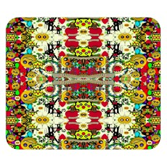 Chicken Monkeys Smile In The Floral Nature Looking Hot Double Sided Flano Blanket (small)