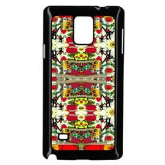 Chicken Monkeys Smile In The Floral Nature Looking Hot Samsung Galaxy Note 4 Case (black)