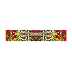 Chicken Monkeys Smile In The Floral Nature Looking Hot Flano Scarf (mini)