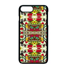 Chicken Monkeys Smile In The Floral Nature Looking Hot Apple Iphone 7 Plus Seamless Case (black)