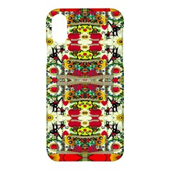 Chicken Monkeys Smile In The Floral Nature Looking Hot Apple Iphone X Hardshell Case