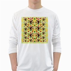 Santa With Friends And Season Love White Long Sleeve T Shirts