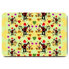 Santa With Friends And Season Love Large Doormat