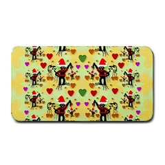 Santa With Friends And Season Love Medium Bar Mats