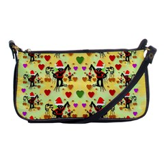 Santa With Friends And Season Love Shoulder Clutch Bags