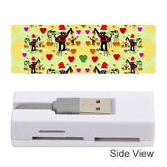 Santa With Friends And Season Love Memory Card Reader (stick)