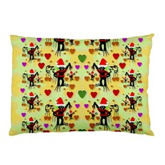 Santa With Friends And Season Love Pillow Case (two Sides)