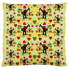 Santa With Friends And Season Love Large Cushion Case (one Side)