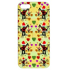 Santa With Friends And Season Love Apple Iphone 5 Hardshell Case With Stand