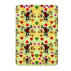 Santa With Friends And Season Love Samsung Galaxy Tab 2 (10 1 ) P5100 Hardshell Case