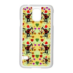 Santa With Friends And Season Love Samsung Galaxy S5 Case (white)
