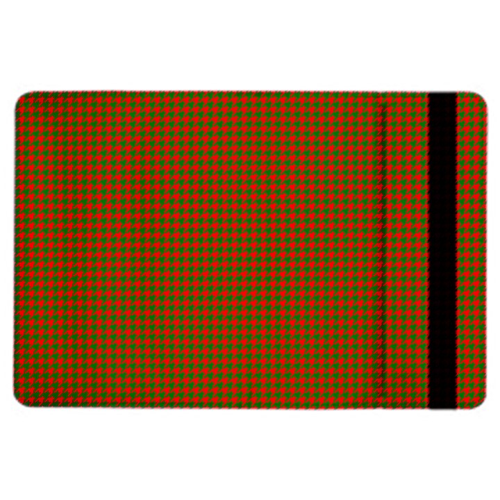 Classic Christmas Red and Green Houndstooth Check pattern iPad Air 2 Flip