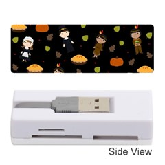 Pilgrims And Indians Pattern   Thanksgiving Memory Card Reader (stick)