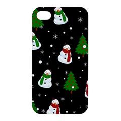 Snowman Pattern Apple Iphone 4/4s Hardshell Case
