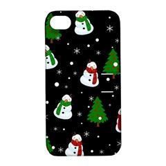 Snowman Pattern Apple Iphone 4/4s Hardshell Case With Stand