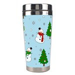 Snowman pattern Stainless Steel Travel Tumblers Center