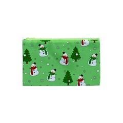 Snowman Pattern Cosmetic Bag (xs)