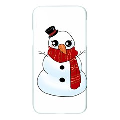 Kawaii Snowman Apple Iphone X Hardshell Case