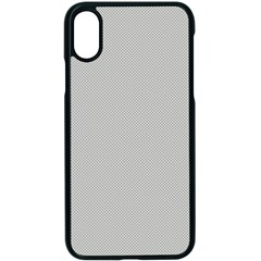 Grey And White Simulated Carbon Fiber Apple Iphone X Seamless Case (black)