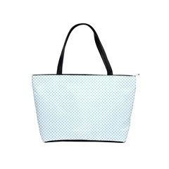 Tiffany Aqua Blue Candy Polkadot Hearts On White Shoulder Handbags