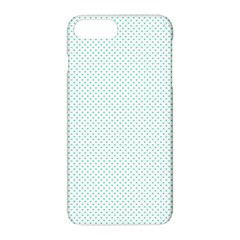 Tiffany Aqua Blue Candy Polkadot Hearts On White Apple Iphone 8 Plus Hardshell Case