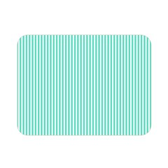 Classy Tiffany Aqua Blue Sailor Stripes Double Sided Flano Blanket (mini)