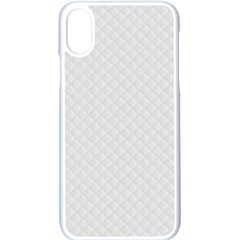 Bright White Stitched And Quilted Pattern Apple Iphone X Seamless Case (white)