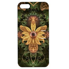 Beautiful Filigree Oxidized Copper Fractal Orchid Apple Iphone 5 Hardshell Case With Stand